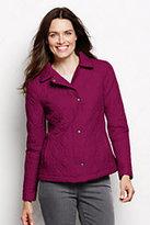Classic Women's Petite Quilted Primaloft Jacket-Crimson