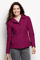 Classic Women's Tall Quilted Primaloft Jacket-Crimson