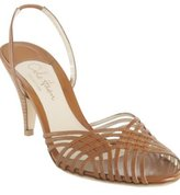 brown leather 'Amina Sling' sandals