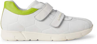 a. testoni A.Testoni White Quilted Leather Low-Top Sneakers