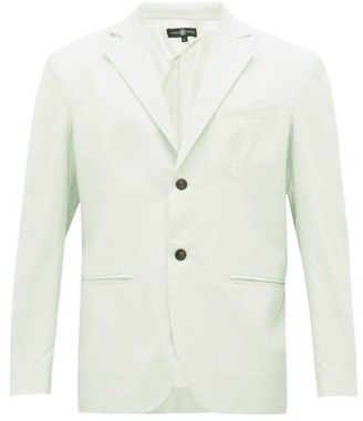 Edward Crutchley Single-breasted Wool-poplin Suit Jacket - Green