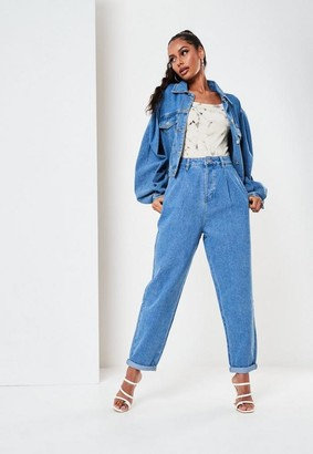 Missguided Co Ord Pleat Front Slouch Jeans