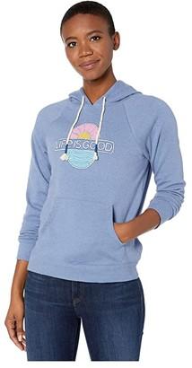 Life is Good Simply True Hoodie (Vintage Blue) Women's Sweatshirt