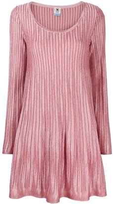 M Missoni Scoop Neck Lame Knit Dress