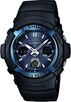 G-Shock G SHOCK Mens Multi-Band 6-Atomic Blue Watch AWGM100A-1A