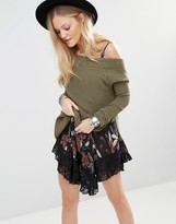 Free People Kate Thermal Off Shoulder Sweater