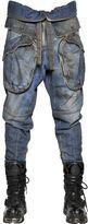 Faith Connexion Distressed Cotton Denim Cargo Jeans