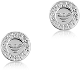 Emporio Armani Sterling Silver Signature Round Women's Earrings