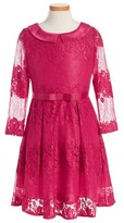 Blush by Us Angels Girl's Lace Fit & Flare Dress