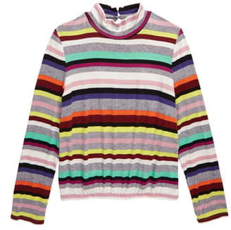 Love, Fire Stripe Mock Neck Shirt
