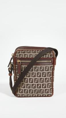 What Goes Around Comes Around Fendi Brown Zucchino Shoulder Small Bag