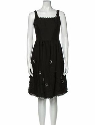 Anna Sui Square Neckline Mini Dress Black