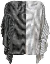 Robert Rodriguez striped ruffle sleeve blouse