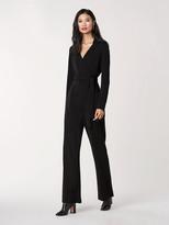 Diane von Furstenberg Aries Jersey-Blend Knit Belted Jumpsuit