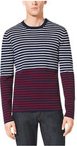 Michael Kors Striped Cotton And Cashmere Sweater