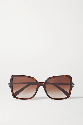 Valentino Garavani Rockstud Oversized Square-frame Tortoiseshell Acetate Sunglasses