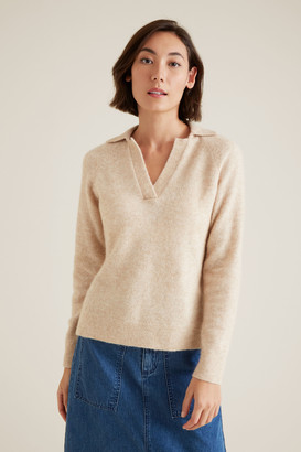 Seed Heritage Polo Neck Knit Sweater