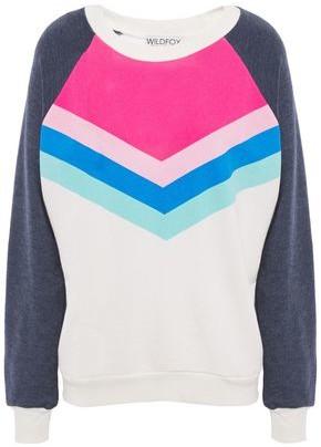 Wildfox Couture Color-block Cotton-blend Fleece Sweatshirt