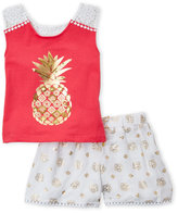 Flapdoodles Toddler Girls) Two-Piece Golden Pineapple Set