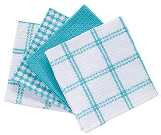 T-Fal Textiles 24367 4-Pack Cotton Flat Waffle Dish Cloth