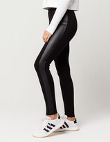IVY + MAIN Faux Leather Inset Womens Leggings