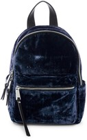French Connection Perry Small Velvet Backpack