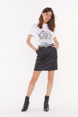 Nasty Gal Womens Smells Like Teen Spirit Denim Skirt - Black - 6, Black
