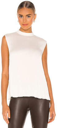 Vince Rib Mock Neck Shell Tank