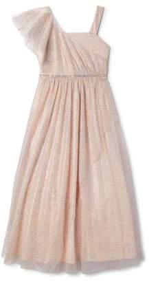 My Michelle One Shoulder Glitter Dot Dress (Big Girls)