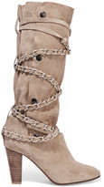 Isabel Marant Soono Chain-trimmed Suede Boots - Beige