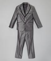 Isaac Mizrahi Gray & Black Three-Piece Suit - Toddler & Boys