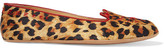Charlotte Olympia Agent Provocateur Wild Cat Naps Embroidered Satin Slippers - Leopard print
