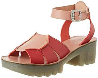 Fly London Women's COLK431FLY Ankle Strap Sandals, (Lipstick Red/Rose 006), 4 (37 EU)