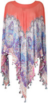 Etro printed silk cape - women - Silk - One Size
