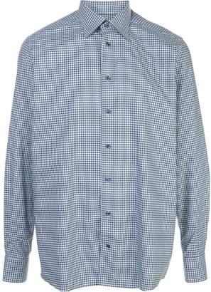 Eton check-print shirt