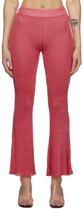 Calle Del Mar Red Ribbed Lounge Pants