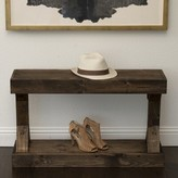 "Dexter Wood Shoe Storage Bench Union Rustic Color: Dark Walnut, Size: 22.25"" H x 37.25"" W x 10"" D"