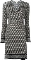 MICHAEL Michael Kors printed wrap dress - women - Polyester/Spandex/Elastane - XL