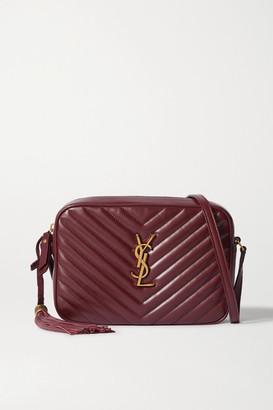 Saint Laurent Lou Quilted Leather Shoulder Bag - Burgundy