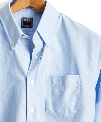 Todd Snyder Solid Oxford Shirt in Light Blue