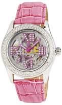 Burgmeister Ravenna Ladies Automatic Skeleton Watch BM140-108 With Swarovski Crystals And Rose Leather Strap
