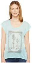 Roper 0894 Sheer Poly Slub Jersey Short Sleeve Tee Women's T Shirt