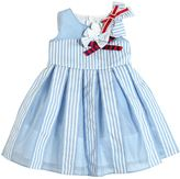 Simonetta Bows Cotton Poplin & Muslin Dress