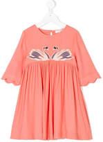 Stella McCartney Swan embroidered dress