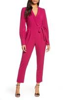 Adelyn Rae Carmela Long Sleeve Wrap Jumpsuit