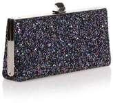 Jimmy Choo Celeste small purple glitter clutch