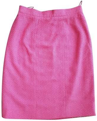 Chanel Pink Tweed Skirts