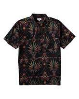 Billabong Men's Sundays Floral Short Sleeve Shirt Black XXL
