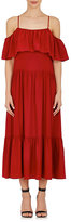 Robert Rodriguez Women's Ruffle Silk Off-The-Shoulder Dress