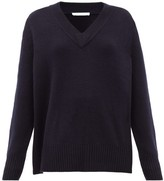 Extreme Cashmere - No.124 Vital Stretch-cashmere V-neck Sweater - Womens - Navy